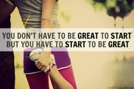 you don't have to be great